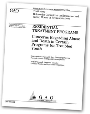GAO Testimony Residential Treatment Programs Concerns Regarding Abuse and Death in Certain Programs for Troubled Teens